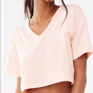 Forever 21 Pink Active Boxy Cropped Tee